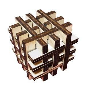 """3D puzzle/fejtörő, Játék & Gyerek, Építőjáték, Famegmunkálás, Lézervágással készült termék , ez a 3D puzze,mely kiváló ajándék lehet \""""fejtörő\"""" kedvelőknek...., Meska"""