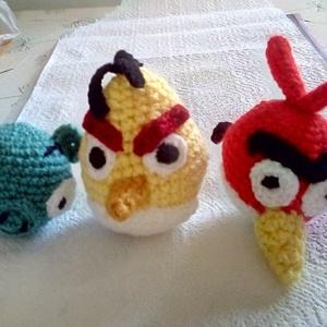 Angry birds figurák, Játék & Gyerek, Plüssállat & Játékfigura, Madár, Horgolás, A 3 ismert mesehős együtt megvásárolható!\nKét dühös madár, egy malac: horgolt mesefigurák\n100% minős..., Meska