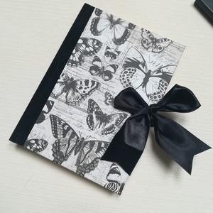 Fekete pillangók- egyedi napló, Otthon & Lakás, Papír írószer, Jegyzetfüzet & Napló, Könyvkötés, Meska