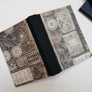 Férfi napló arany oldalakkal - egyedi napló, Otthon & Lakás, Papír írószer, Jegyzetfüzet & Napló, Könyvkötés, Meska