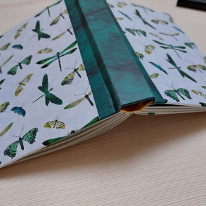 Egyedi napló selyemfényű borítóval, Otthon & Lakás, Papír írószer, Jegyzetfüzet & Napló, Könyvkötés, Meska