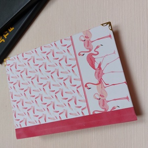 Flamingó mintás napló rózsaszín plűss gerinccel - otthon & lakás - papír írószer - jegyzetfüzet & napló - Meska.hu