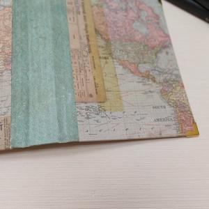 Útinapló - egyedi napló világtérképpel, Otthon & Lakás, Papír írószer, Jegyzetfüzet & Napló, Könyvkötés, Meska