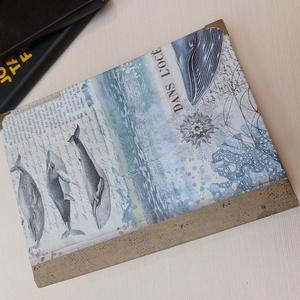 Jeges-tengeri bálna  napló, Otthon & Lakás, Papír írószer, Jegyzetfüzet & Napló, Könyvkötés, Meska