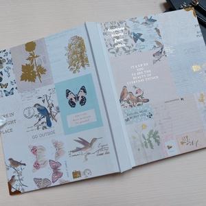 Romantikus arannyal nyomott  A/4 méretű album, rajzkönyv, Otthon & Lakás, Papír írószer, Album & Fotóalbum, Könyvkötés, Meska