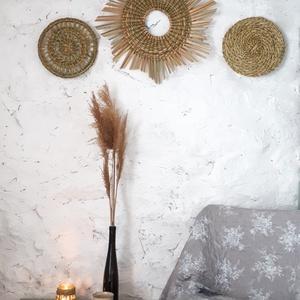 ETNO HOME NAPKORONG - Fali dekoráció, Falra akasztható dekor, Dekoráció, Otthon & Lakás, Fonás (csuhé, gyékény, stb.), Ez a fali dísz a természetesség, az örök körforgás szimbólumaként készült. Kizárólag magyar alapanya..., Meska