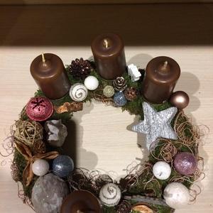 Adventi koszorú, Karácsony & Mikulás, Adventi koszorú, Mindenmás, Egyedi kézzel készült koszorú. Átmérője 26 cm., Meska