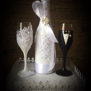Csipk esküvői  szett , Esküvő, Esküvői dekoráció, Nászajándék, Egyedi díszítéssel ellátott esküvői álom szett.  Szerelmes pároknak eljegyzésre, esküvőre vagy egyéb..., Meska