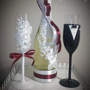 Csipk esküvői  szett , Asztaldísz, Dekoráció, Esküvő, Gyurma, Egyedi díszítéssel ellátott esküvői álom szett.\n\nSzerelmes pároknak eljegyzésre, esküvőre vagy egyéb..., Meska