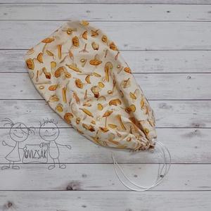 Kenyeres zsák - péksütis mintával, Táska & Tok, Bevásárlás & Shopper táska, Kenyeres zsák, Varrás, Meska