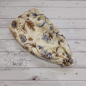Kenyeres zsák - kék virágos mintával, Táska & Tok, Bevásárlás & Shopper táska, Kenyeres zsák, Kenyeres zsák, kívül pamutvászon, belül vízhatlan, lélegző PUL anyagból. 1 kg kenyér kényelmesen elf..., Meska
