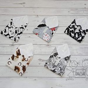Textil szavéta / újraszalvéta, többféle minta - zerowaste / nowaste, Táska & Tok, Ovi- és sulikezdés, Uzsonna- & Ebéd tartó, Szendvics csomagoló, Varrás, Meska