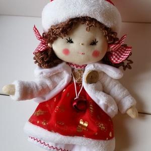 Télapó baba,karácsonyi baba, textilbaba, rongybaba, Gyerek & játék, Karácsony, Játék, Baba-és bábkészítés, Télapó lány babám 36 cm-es. Fix sapis, rucis. Akár dekor babának, akár játszani ajánlom ajándékba. N..., Meska