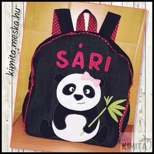 Panda macis hátizsák, Ovis hátizsák, Ovis zsák & Ovis szett, Játék & Gyerek, Varrás, Panda maci mintás hátizsák \n\nÓvodás, bölcsődés gyerekeknek\n\nFarmer hátizsák, pamut béléssel, filcből..., Meska