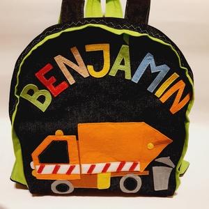 Kukás autós hátizsák, Játék & Gyerek, Ovis zsák & Ovis szett, Ovis hátizsák, Varrás, Kukás autó mintás hátizsák \n\nÓvodás, bölcsődés gyerekeknek\n\nFarmer hátizsák, pamut béléssel, filcből..., Meska