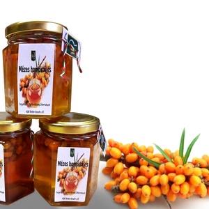 """Homoktövis bogyó mézben , Kulinária (élelmiszer), Gyümölcs, zöldség, Élelmiszer előállítás, Virágmézből és homoktövis bogyóból készült kombináció, magas vitamintartalommal. A \""""homok aranya\"""" ha..., Meska"""
