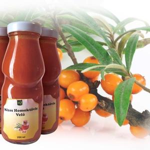 Mézes homoktövis velő, Szörp, Élelmiszer, Élelmiszer előállítás, A homoktövis termés rendkívül gazdag természetes antioxidánsokban, így hozzájárulhat a szervezet véd..., Meska