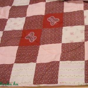 patchwork takaró apró kockákból, falvédő - otthon & lakás - lakástextil - falvédő - Meska.hu