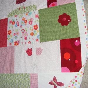 patchwork copfoslánykás takaró, virágos rét (kincsesmomka) - Meska.hu