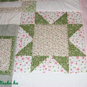 patchwork takaró csillag motívumokból - Meska.hu