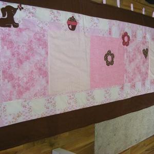 Rózsaszín-barna patchwork falvédő (kincsesmomka) - Meska.hu