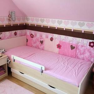Rózsaszín-barna patchwork falvédő, Lakberendezés, Otthon & lakás, Lakástextil, Falvédő, Takaró, ágytakaró, Varrás, Patchwork, foltvarrás, méret: 200x80cm\nAz anyagot varrás előtt kimostam, tehát nem fog összemenni( be van avatva) A bélés a..., Meska