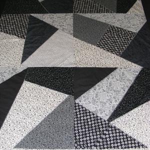 Crazy patchwork  takaró fekete-fehér (kincsesmomka) - Meska.hu