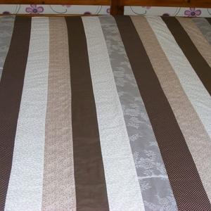 Patchwork takaró, barana-bézs színekből (kincsesmomka) - Meska.hu