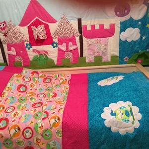 Palotás patchwork falvédő, takaró, szettben - otthon & lakás - lakástextil - falvédő - Meska.hu