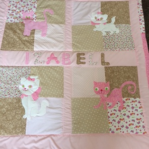 Cicás patchwork takaró, sok cica, Ágytakaró, Lakástextil, Otthon & Lakás, Varrás, Mérete: 160x90cm. \n\nHa más színben, vagy méretben kérnéd, írd meg. , Meska