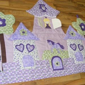 Palotás patchwork falvédő lila-rózsaszÍn, Otthon & Lakás, Falvédő, Lakástextil, Varrás, Meska