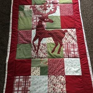 Csodaszarvas patchwork takaró, falvédő is rendelhető - otthon & lakás - lakástextil - ágytakaró - Meska.hu