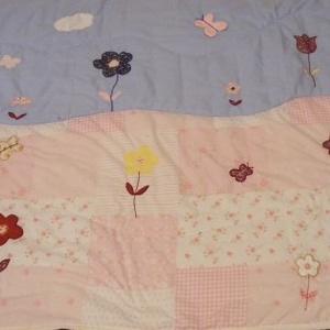 virágos rét, patchwork  lánytakaró, falvédő - Meska.hu