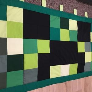 Minecraft patchwork falvédő, takaró, Otthon & lakás, Lakberendezés, Lakástextil, Falvédő, Varrás, Patchwork, foltvarrás, Falvédő mérete: 200x75cm . Az anyagot varrás előtt kimostam, tehát nem fog összemenni( be van avatva..., Meska