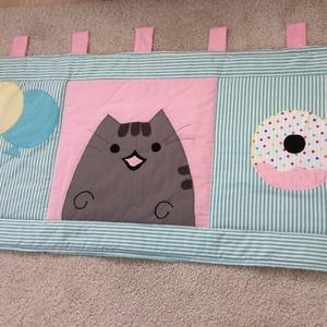 Pusheen cat patchwork ,falvédő, takaró (kincsesmomka) - Meska.hu