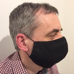 Egészségügyi szájmaszk, arcmaszk fekete, Maszk, Arcmaszk, Férfi & Uniszex, Varrás, Meska