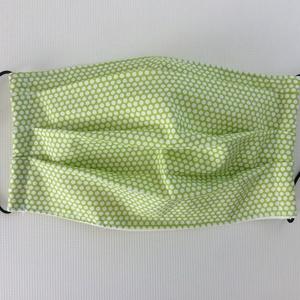 Egészségügyi szájmaszk, arcmaszk  világos zöld pöttyös - Meska.hu
