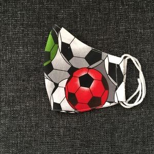 Egészségügyi szájmaszk, arcmaszk foci labda mintával - Meska.hu
