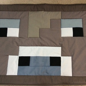 Minecraft bika patchwork falvédő, takaró zsebekkel, Falvédő, Lakástextil, Otthon & Lakás, Varrás, Patchwork, foltvarrás, Falvédő mérete: 200x75cm . Az anyagot varrás előtt kimostam, tehát nem fog összemenni( be van avatva..., Meska