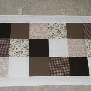 Patchwork falvédő barna-drapp, Otthon & Lakás, Falvédő, Lakástextil, Patchwork, foltvarrás, Meska
