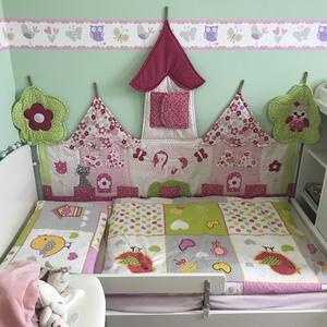 Palotás patchwork falvédő , Otthon & lakás, Lakberendezés, Lakástextil, Falvédő, Mérete: 140x90cm.   Ha más színben, vagy méretben kérnéd, írd meg. , Meska