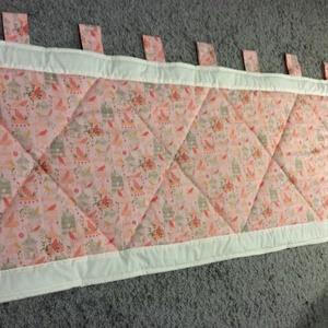 Patchwork falvédő, takaró rózsaszín-bézs, madaras mintával - Meska.hu