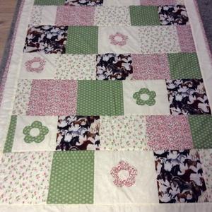 patchwork takaró lovas mintás - Meska.hu