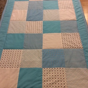 patchwork türkiz takaró,  - Meska.hu