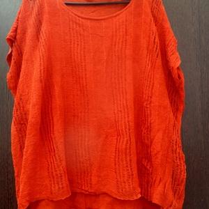 Narancsháló, Táska, Divat & Szépség, Ruha, divat, Női ruha, Ruha, Varrás, Festett tárgyak, Két rétegű hurkolt anyagú,hálós felső.\nErős narancs színével már messziről \nkitűnik a tömegből. Szel..., Meska