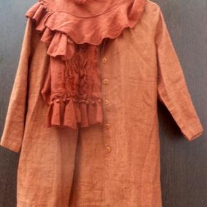 Szerelmes ősz, Táska, Divat & Szépség, Ruha, divat, Női ruha, Ruha, Foltberakás, Festett tárgyak, Izzó narancs színekkel csábít most az ősz.\nNarancs színű vászon ing,\nbelsejében két rejtett zsebbel\n..., Meska