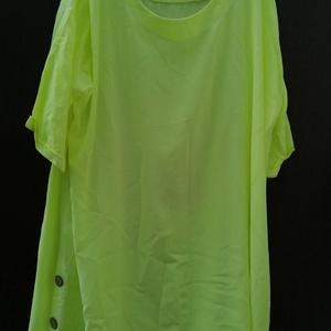 Zöld hunyor, Táska, Divat & Szépség, Ruha, divat, Női ruha, Ruha, Festett tárgyak, Varrás, Vékony,szellős anyagból készült,\nbanán zölddel batikolt,hosszított tunika.\nKerekített nyakkal,negyed..., Meska