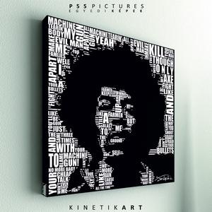 kép: Jimi Hendrix: Machine Gun [Tipográfia], Otthon & lakás, Dekoráció, Kép, Képzőművészet, Grafika, P55 - hdrxMAGU   Jimi Hendrix: Machine Gun  leírás: hamarosan  P55 pictures: Akril felületű faforgác..., Meska