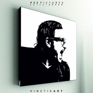 kép: U2: Bono - No.4, Dekoráció, Otthon & lakás, Kép, Képzőművészet, Grafika, Fotó, grafika, rajz, illusztráció, Mindenmás, P55 - utwoBON4\n \nU2 Bono No.4\n\n\nP55 pictures:\nAkril felületű faforgácslapra, vinyl technikával készí..., Meska