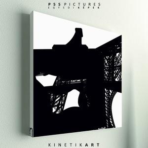 kép: Eiffel torony - No.6, Dekoráció, Otthon & lakás, Kép, Képzőművészet, Grafika, Fotó, grafika, rajz, illusztráció, Mindenmás, P55 - archEIF6 \nEiffel torony No.6\n\n\nP55 pictures:\nAkril felületű faforgácslapra, vinyl technikával ..., Meska